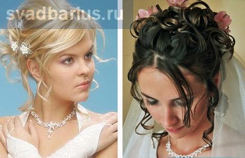 Красиві зачіски на весілля 2012
