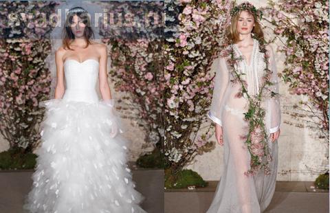 Свадебные платья Оскар де ла Рента весна - лето 2012 года
