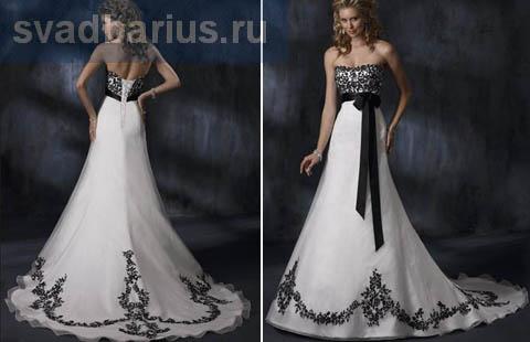 Черно-белые платья на корсете